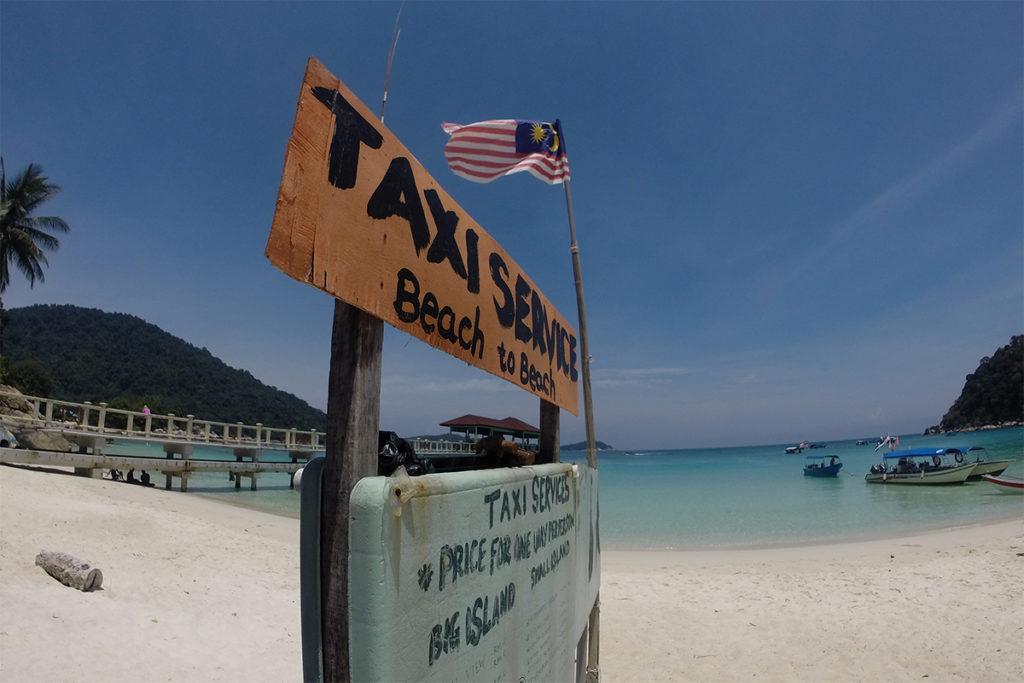 Wasser-Taxi auf Perhentian Islands