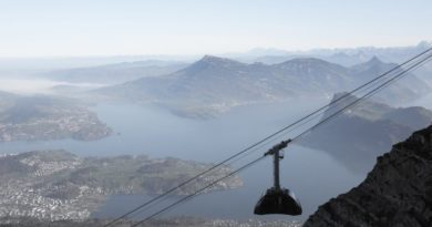 Pilatus Gondel Aussicht auf Vierwaldstättersee