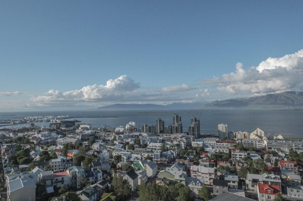 reykjavik aussicht in der hauptstadt von island