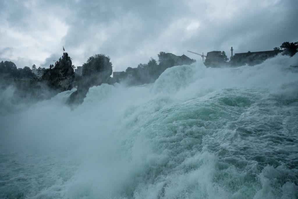 Wasserfall in Schaffhausen und Zürich