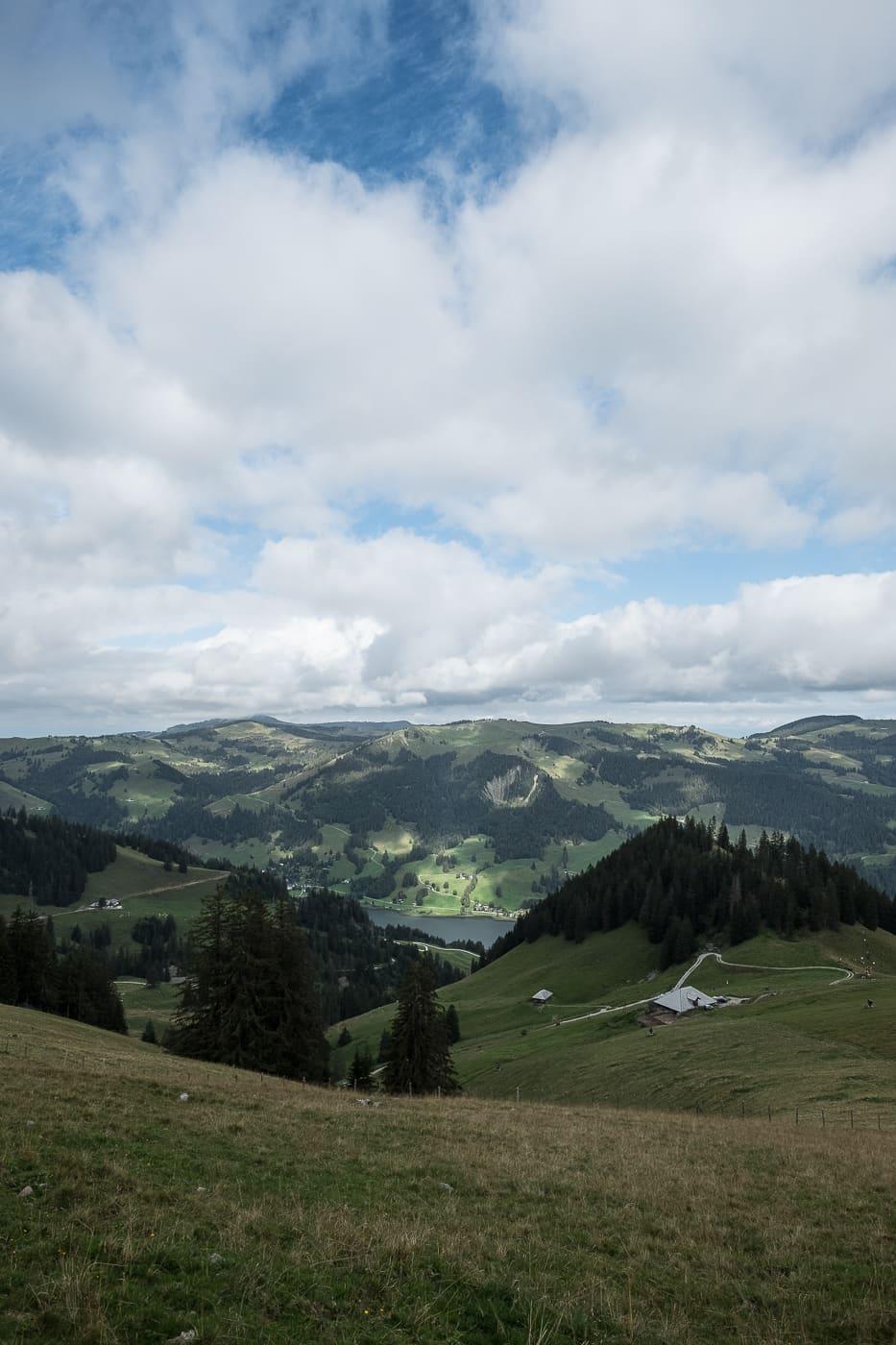 Ausblick auf Riggisalp und Schwarzsee