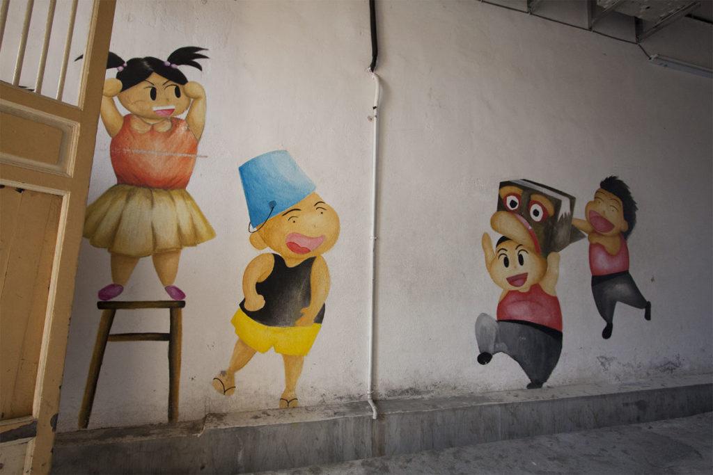 Innenhof Kunst in Malaysia Penang