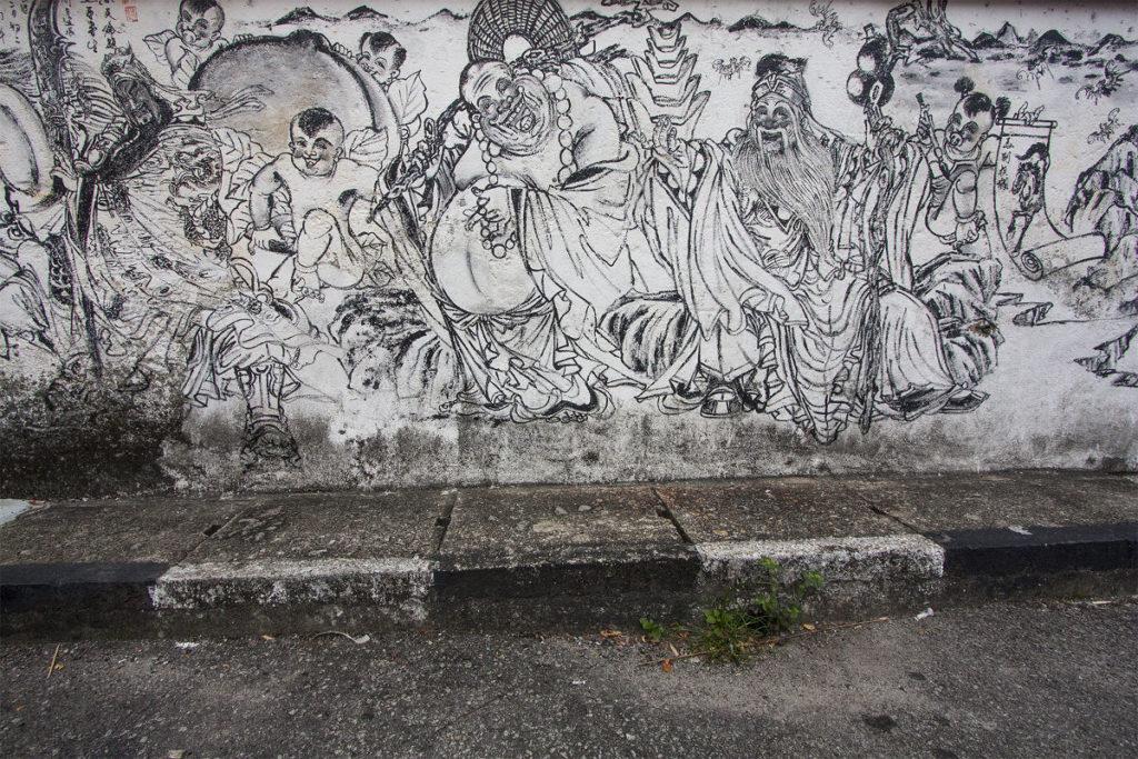 Verwirrende Strassenkunst in Malaysia