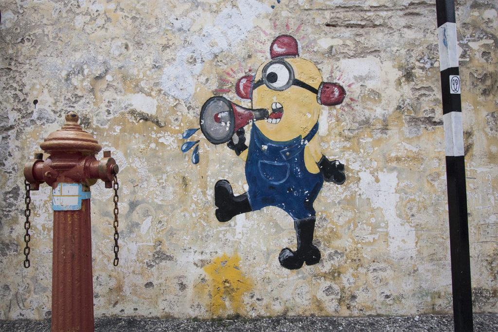 Minions als Streetart in Georgetown