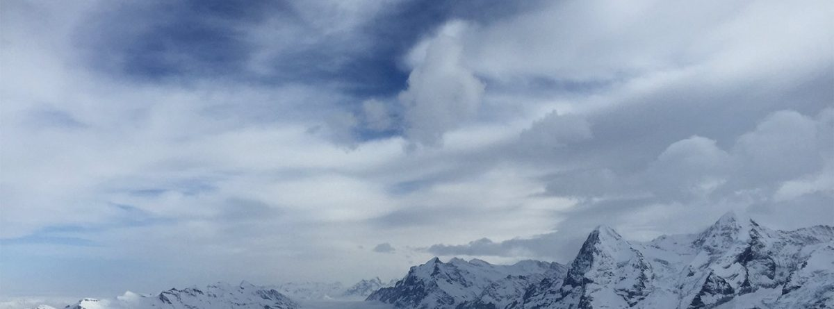 Winterlicher Aussicht vom Schilthorn