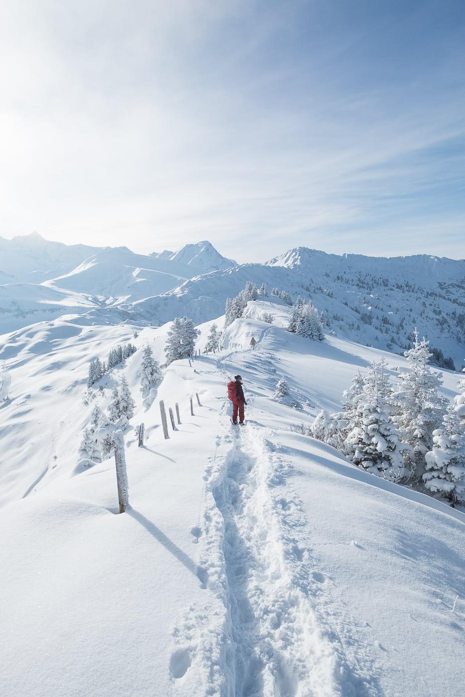 Schneewanderung im Berner Oberland