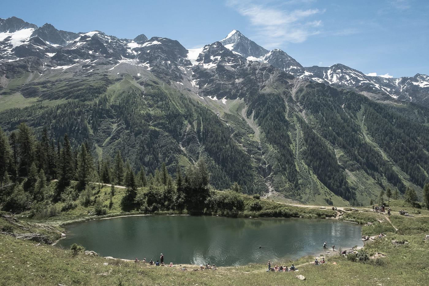 Schwarzsee bei Blatten im Lötschental