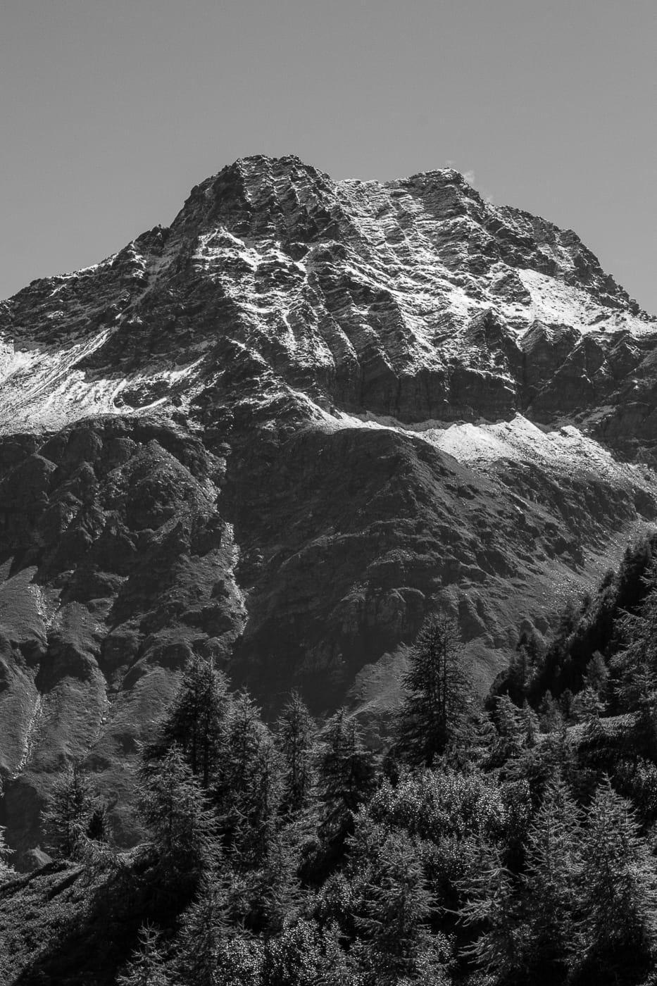 Schwarzweiss Berge