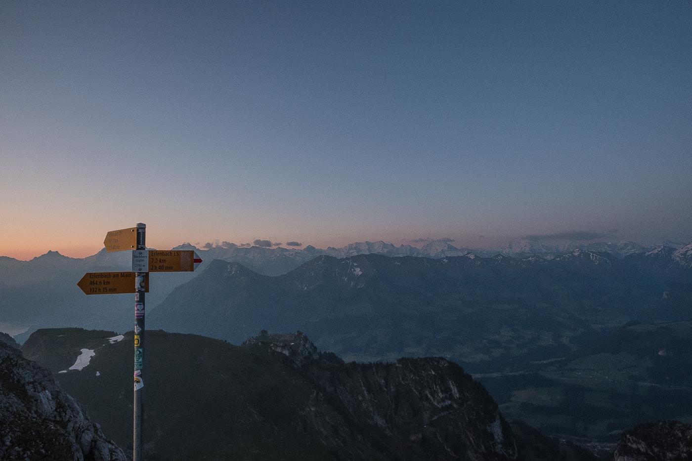 sicht auf berner alpen stockhorn