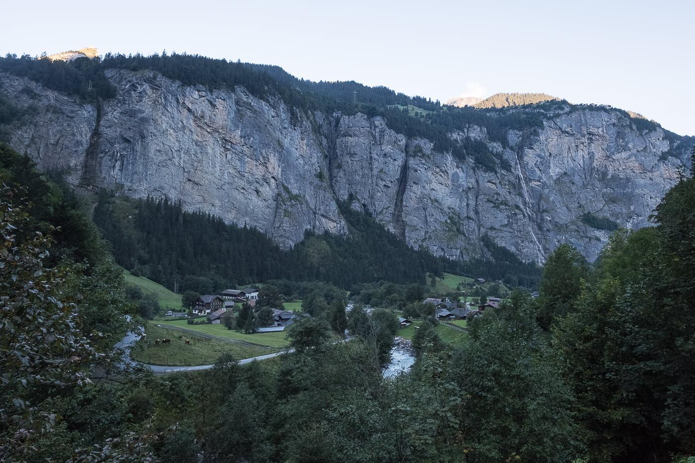 Sicht über Stechelberg