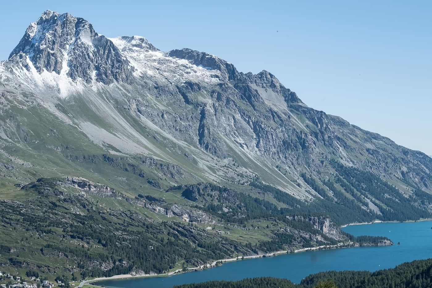 Silsersee und Berge
