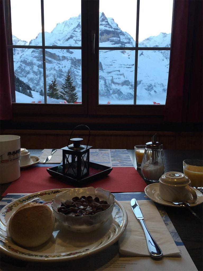 Frühstück in der Pension Sonnenberg