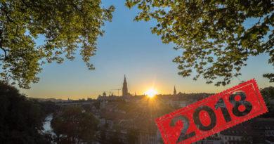 Sonnenuntergang Bern 2018