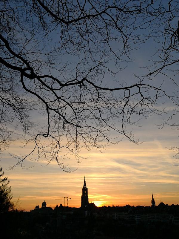 Sonnenuntergang Bern Muristalden