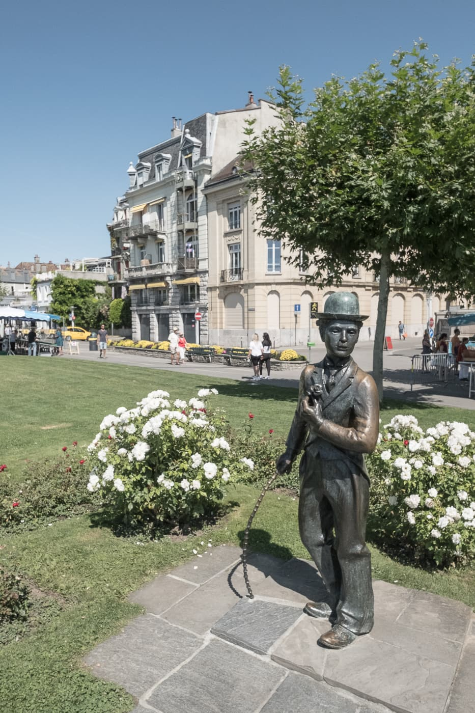 Statue Charlie Chaplin in Vevey