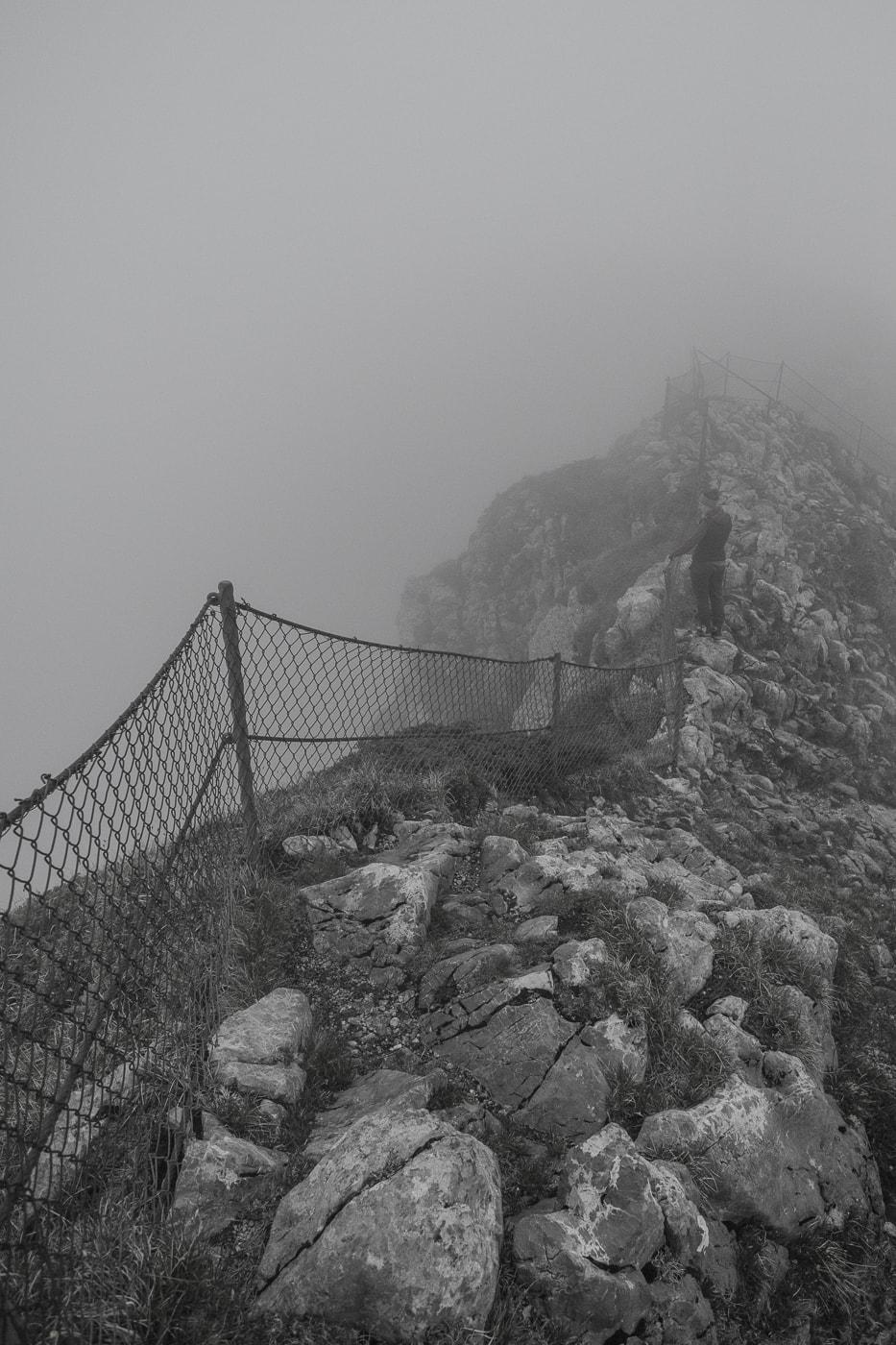 stockhorn gipfel nebel