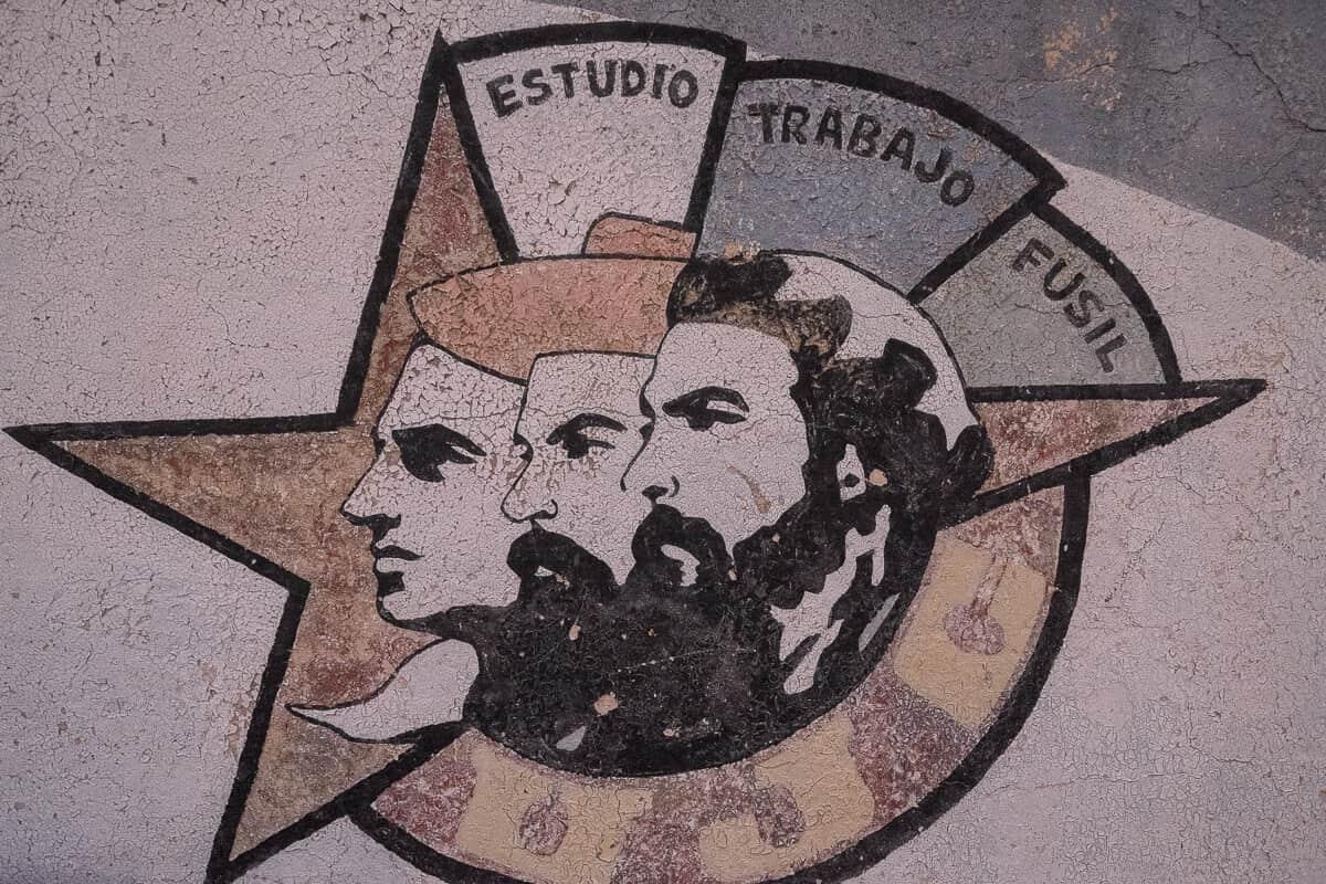 Streetart in Kuba mit Politik