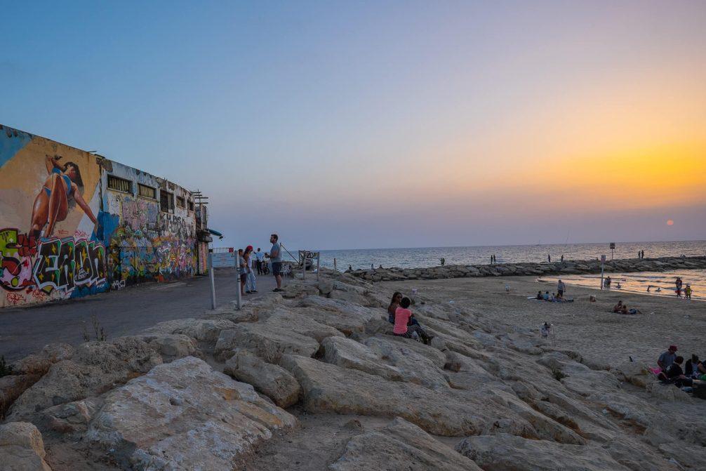 Streetart am Strand von Tel Aviv