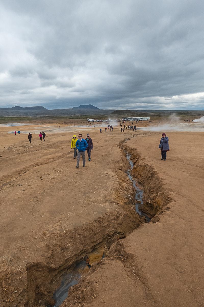 tourist hotspot iceland hverir