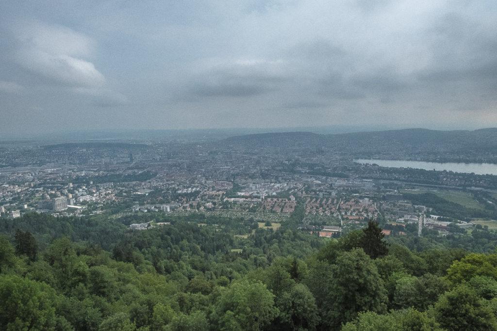 Üetliberg Aussicht auf die Stadt Zürich