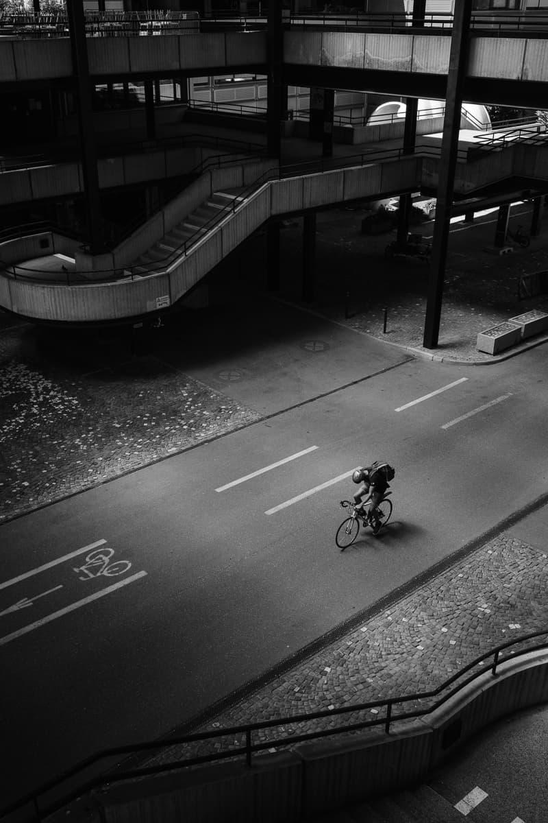 Velofahrer EPFL Lausanne
