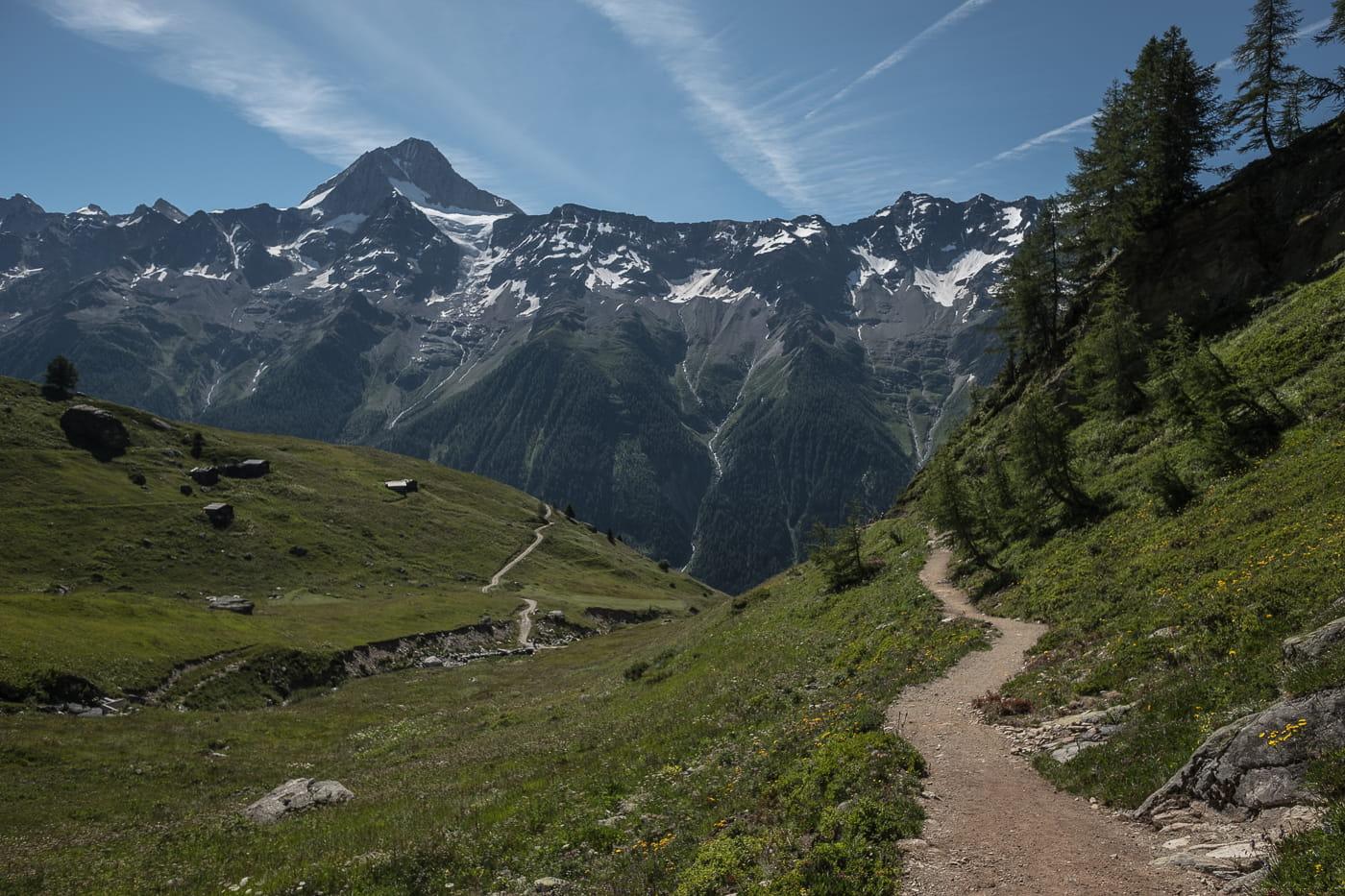 Wanderweg Lauchernalp Weritzalp