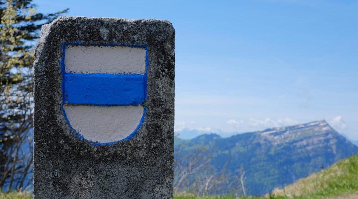 Kantonsgrenze Zug auf dem Wildspitz