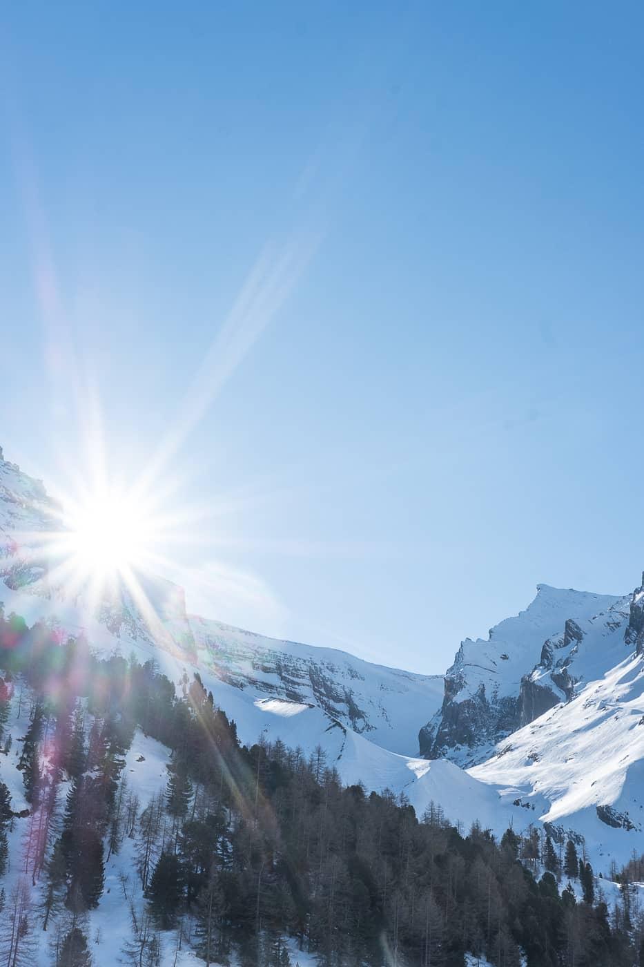 Wintersonne auf dem Gemmipass