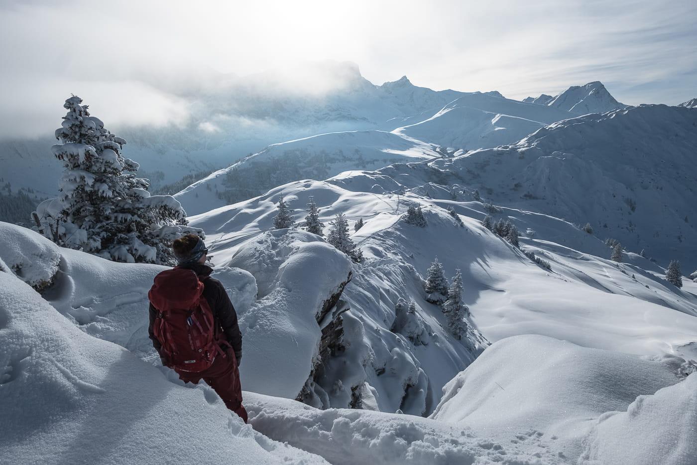Winterwanderung im Berner Oberland: Lenk Leiterli