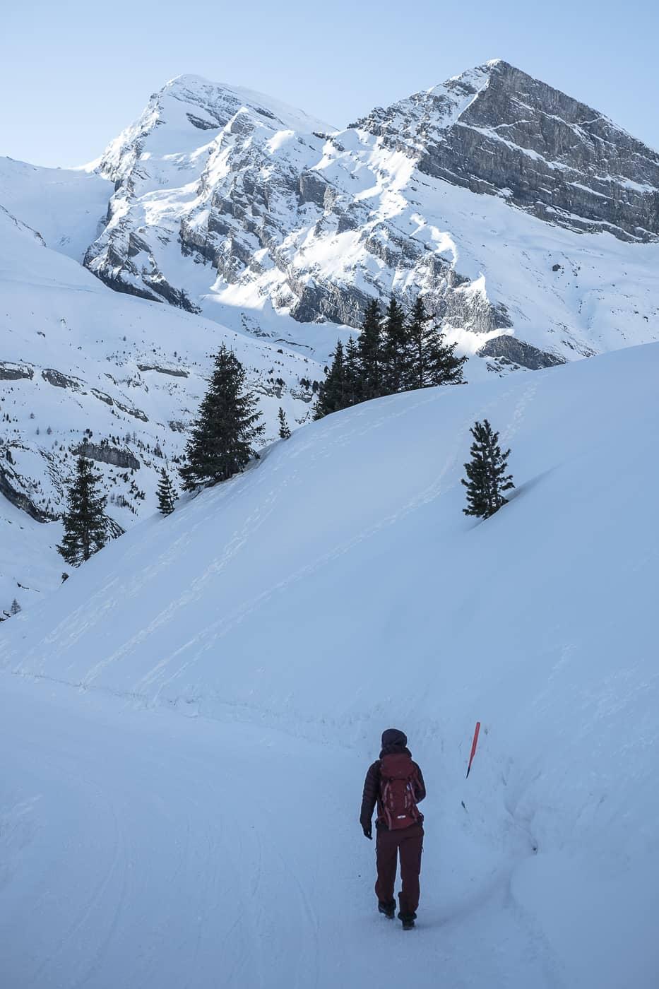 Winterwanderung Kandersteg Sunnbüel zum Daubensee