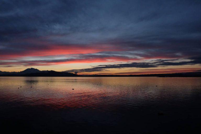 Zugersee Sonnenuntergang